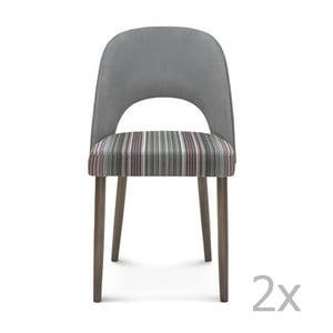 Sada 2 sivých drevených stoličiek Fameg Lecia