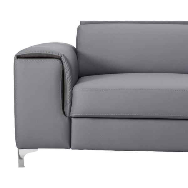 Sivá pohovka Modernist Serafino, ľavý roh
