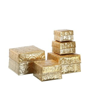 Set 5 boxov  Golden Aluminium