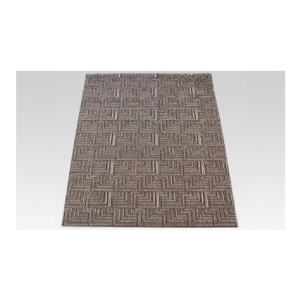 Koberec Pinnacle Dark Brown, 167x233 cm