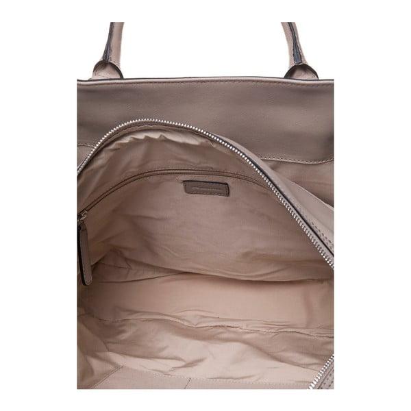 Kožená kabelka do ruky Marta Ponti Sandy, piesková