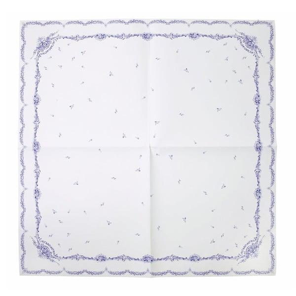 Papierový obrus Porcelain Blue, 140x140 cm