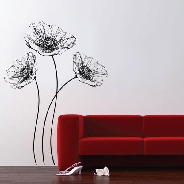 Dekoratívna samolepka na stenu Poppy