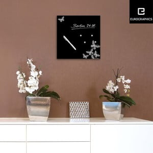 Magnetická tabuľa Eurographics Silver Butterflies, 30 x 30 cm