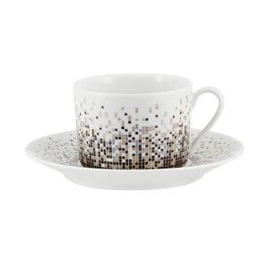Sada 6 kávových hrnčekov s tanierikmi Accademia, 220 ml