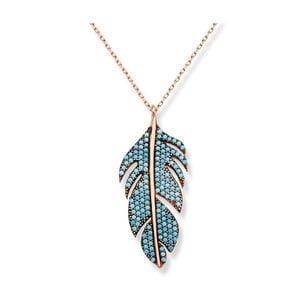 Retiazka v zlatej farbe s modrými kameňmi Baghira Feather