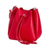 Červená kabelka z pravej kože Andrea Cardone Lalia Jenny