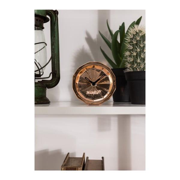 Stolové hodiny v medenej farbe Zuiver Bink