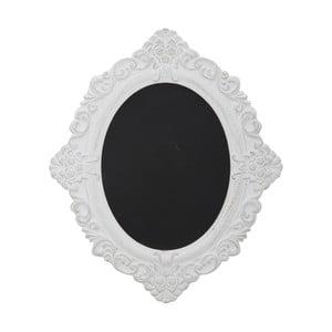 Oválna tabuľa v bielom ráme Mauro Ferretti Bruxelles, výška 59 cm