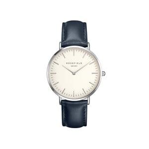 Strieborno-modré dámske hodinky Rosefield The Bowery