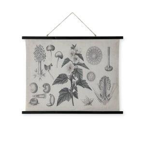 Nástenná dekorácia z dreva a ľanu HF Living Bush, 100 × 76 cm