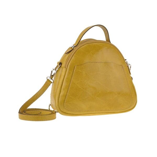 Kožená kabelka Men, žltá