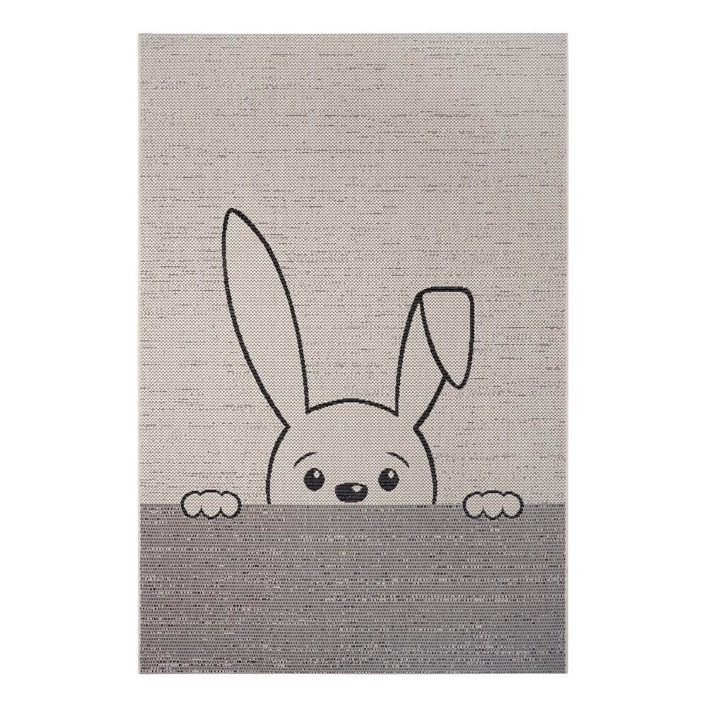 Sivý detský koberec Ragami Bunny, 80 x 150 cm