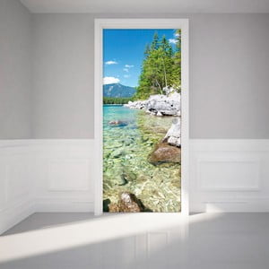 Adhezivna samolepka na dvere Ambiance Crystal Lake