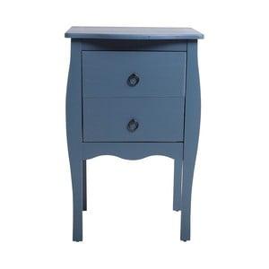 Modrý odkladací stolík s 2 zásuvkami zborovicového dreva SOB Oculus