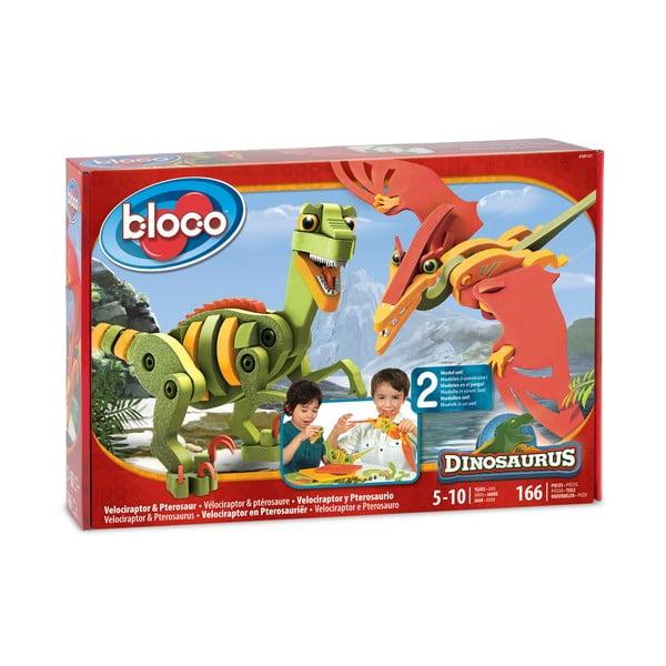 Stavebnica Bloco Velociraptor a Pterosaurus