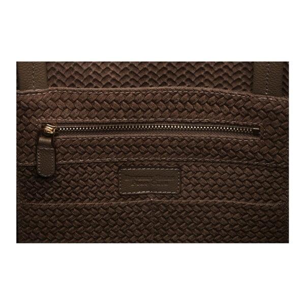 Hnedá kožená kabelka Beverly Hills Polo Club Paulee
