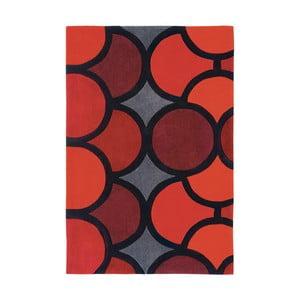 Koberec Asiatic Carpets Harlequin Bubble Red, 90x150 cm