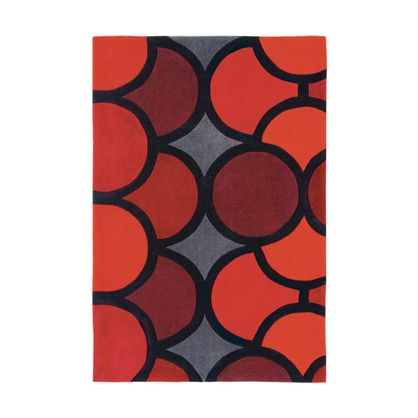 Koberec Asiatic Carpets Harlequin Bubble Red, 90x150 cm