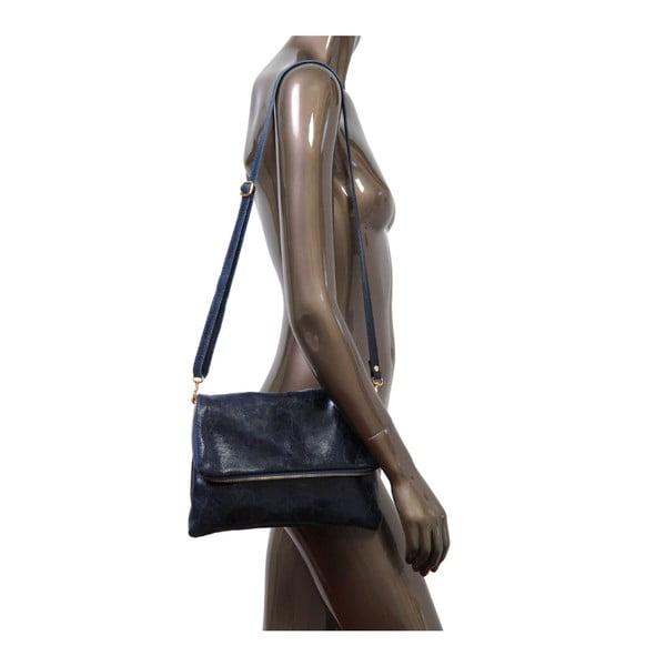 Tmavomodrá kabelka z pravej kože Andrea Cardone Marco