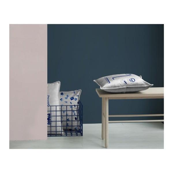 Biela dekoratívna obliečka na vankúš Velvet Atelier Lulu, 50×25cm
