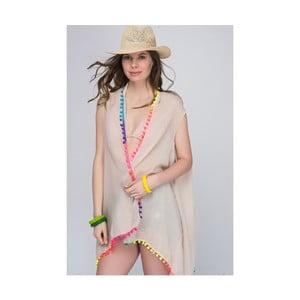 Béžová priehľadná dámska tunika z čistej bavlny NW