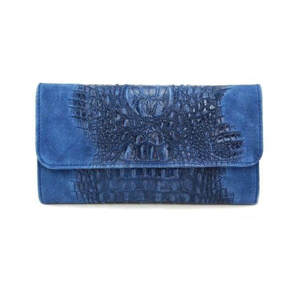 Kožená listová kabelka Snakesi Blue