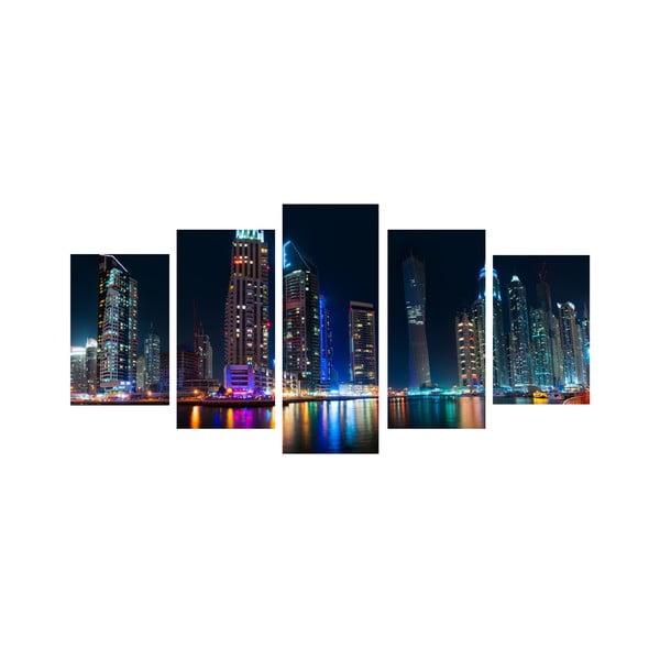 5dielny obraz Nočné veľkomesto