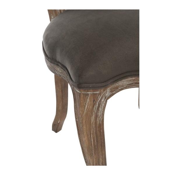 Sivohnedá dubová stolička Louisa