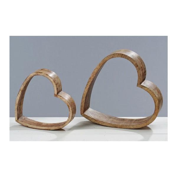 Dekorácia Wood Heart, 2 ks