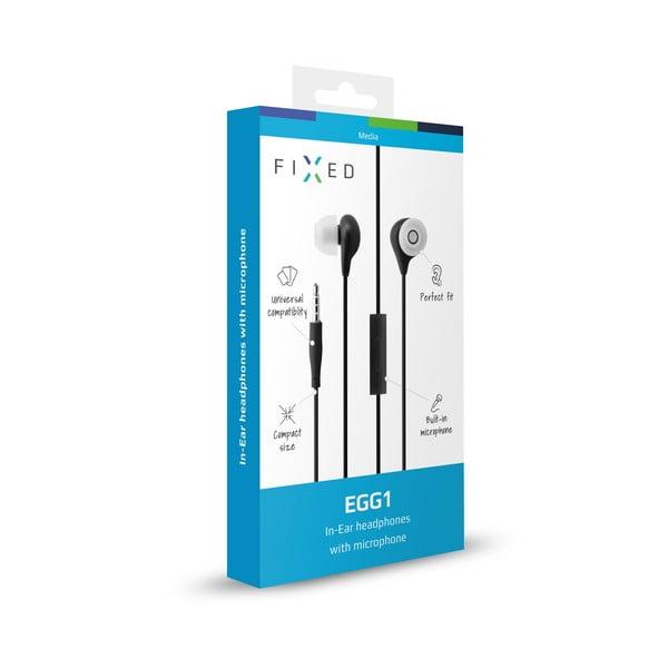 In-ear slúchadlá s mikrofónom FIXED EGG1, čierne