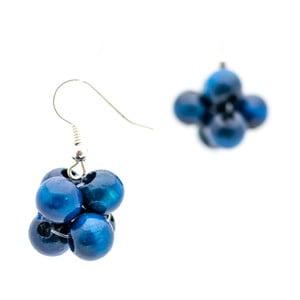 Modré náušnice ko–ra–le Berries