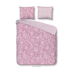 Ružové obliečky z bavlneného saténu na dvojlôžko Descanso Cairo Pink, 200×240 cm