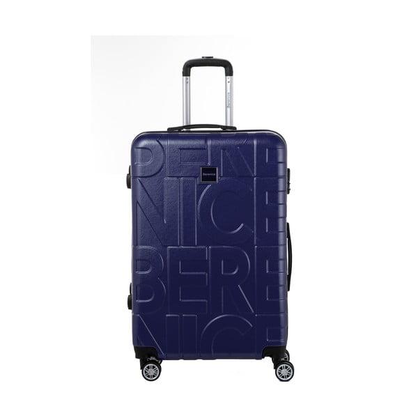 Tmavomodrý cestovný kufor Berenice Typo, 107 l