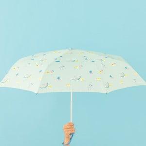 Mätovozelený dáždnik Mr. Wonderful Cloudy, šírka 108 cm