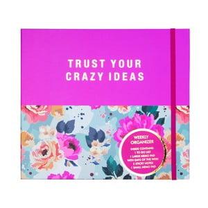 Vreckový týždenný plánovač Tri-Coastal Design Trust Your Crazy Ideas