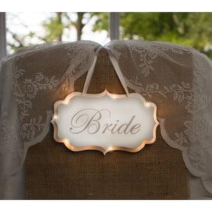 Svadobná dekorácia s LED svetielkami Bride