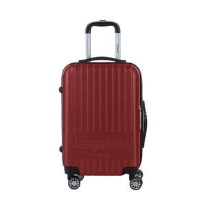 Tmavočervený cestovný kufor na kolieskách s kódovým zámkom SINEQUANONE Iskra, 44 l
