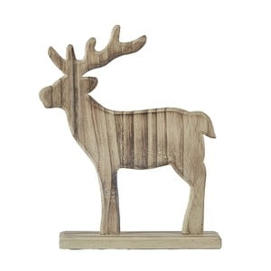 Dekoratívna soška KJ Collection Reindeer Natural Wood