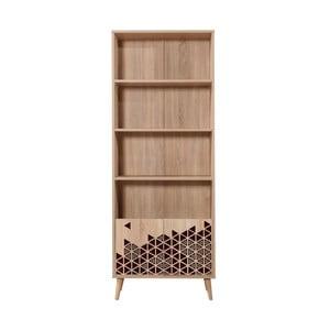 Knižnica Booki Red, 198×75 cm
