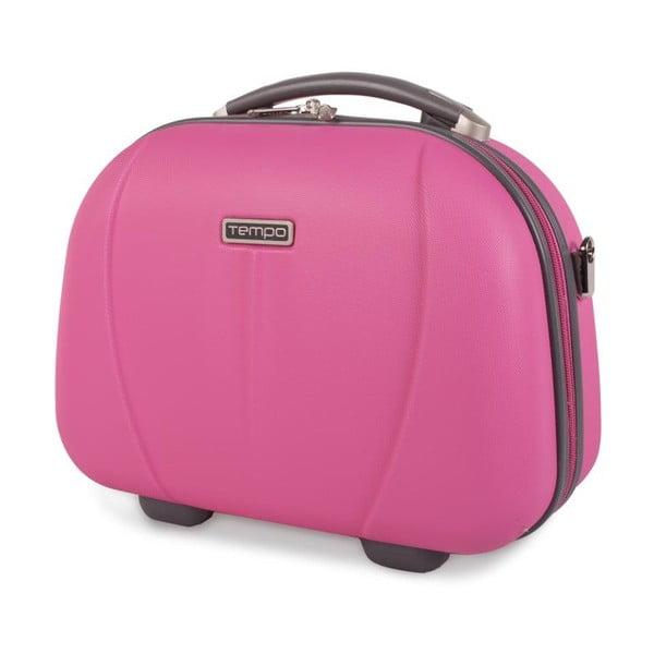Ružový cestovný kozmetický kufrík Tempo