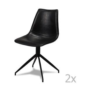 Sada 2 čiernych stoličiek Knuds Isabel