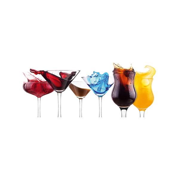 Sklenený obraz Splashing Cocktails, 30x80 cm