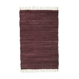 Vínový vzorovaný koberec A Simple Mess Mille, 90×60cm
