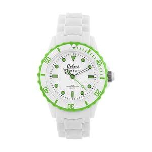 Hodinky Colori 40 White/Lime Green