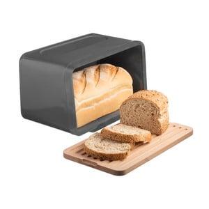 Sivý chlebník s doštičkou Typhoon Hudson