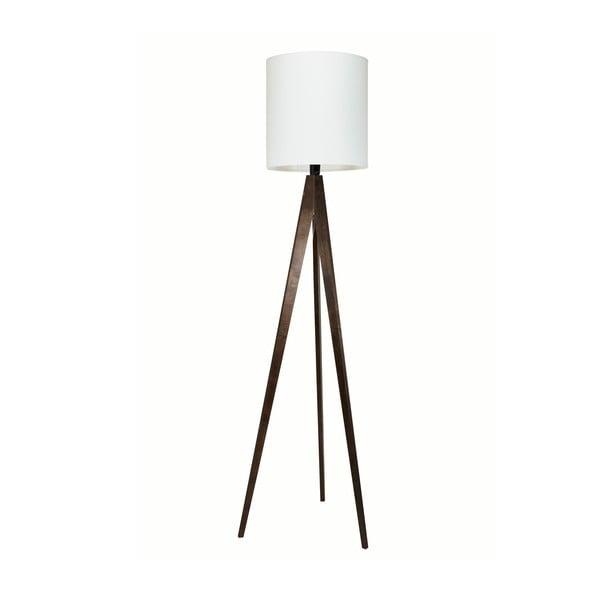 Stojacia lampa Artist White/Brown, 125x33 cm