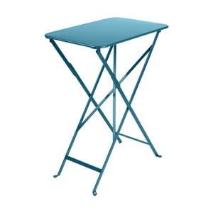 Modrý záhradný stolík Fermob Bistro, 37×57 cm