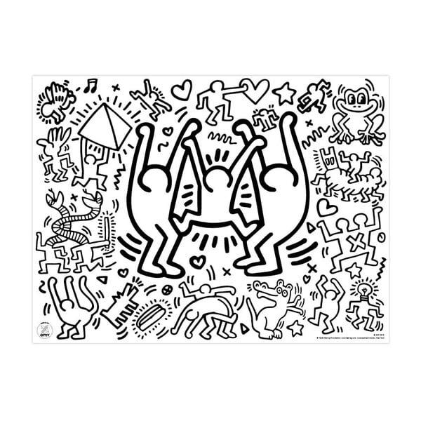 Prestieranie-maľovanka pre deti Keith Haring, 24 ks