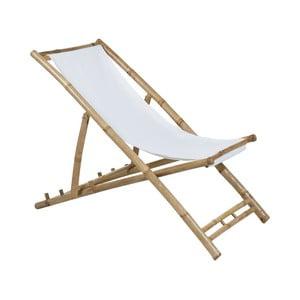 Bambusové ležadlo s bielym vankúšom na sedenie Santiago Pons Hollywood